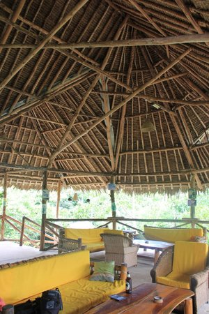 Stilts Backpackers: The main eating/relaxing area