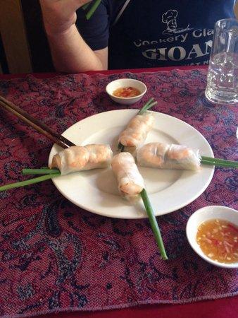 Gioan Cooking Class : Fresh rolls