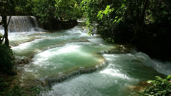 Kuang Si Falls: Laos waterfalls by the city of Luang Prabang