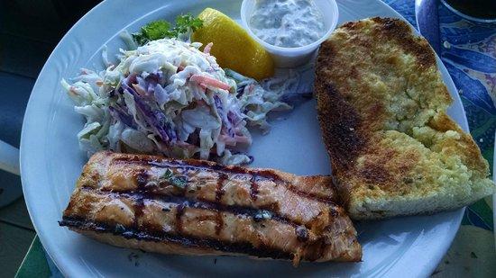 Wind & Sea Restaurant: Somewhat prosaic salmon