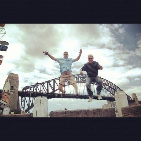 Bike Buffs - Sydney Bicycle Tours: Mid tour / mid air