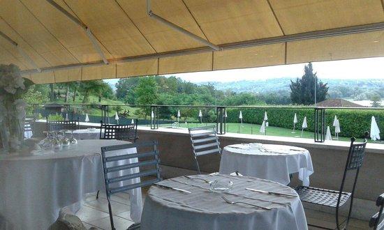 Terrazza del ristorante vista lago - Foto di Relais sul Lago, Varese ...