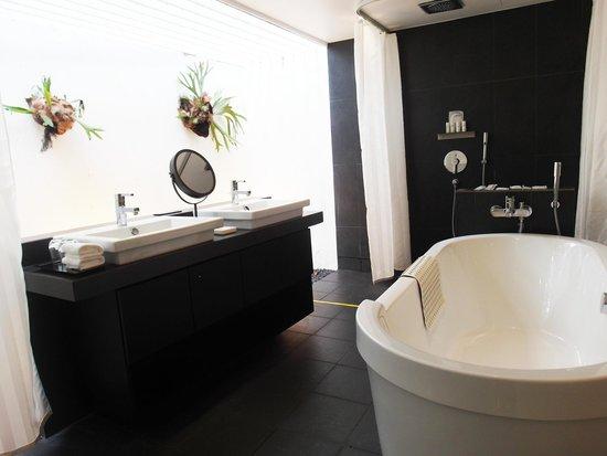 Lloyd's Inn: Open concept bathroom