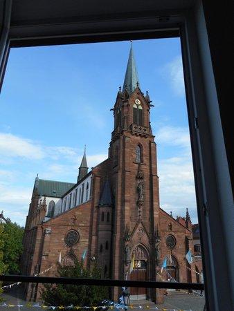 Hotel Restaurant Notre Dame: Une vue depuis la chambre