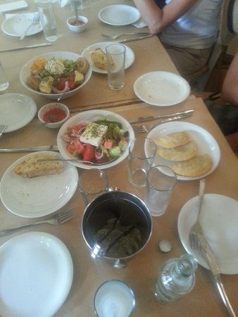 Kalderimi: Some of the food we had