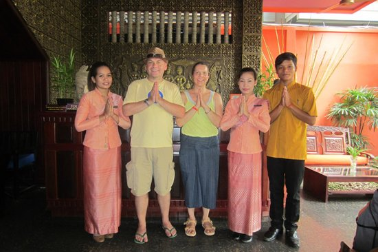Reception area with Golden Butterfly Villa staff