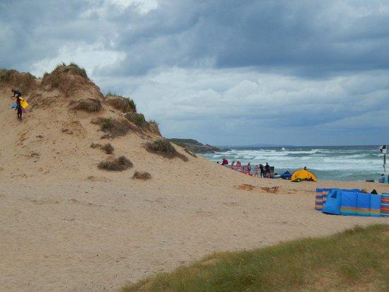 Constantine Bay Beach: edge of the dunes