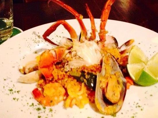 My dish of Paella at Pacharan