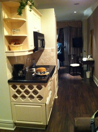Grand Hotel Toronto: sink, mini fridge, microwave