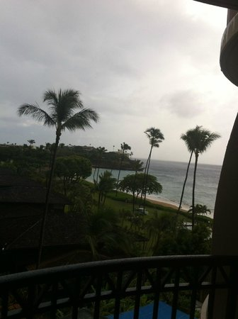 Royal Lahaina Resort: view from partial Ocean view Room.