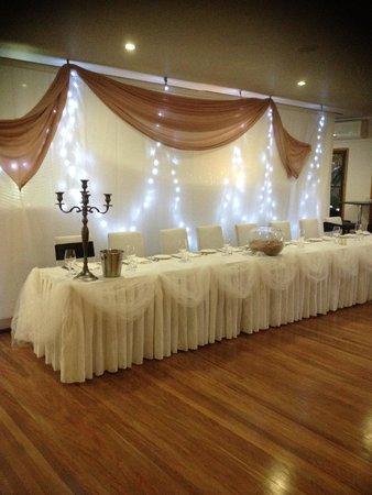 Pasfields Restaurant, Bar & Deck: Wedding Head Table