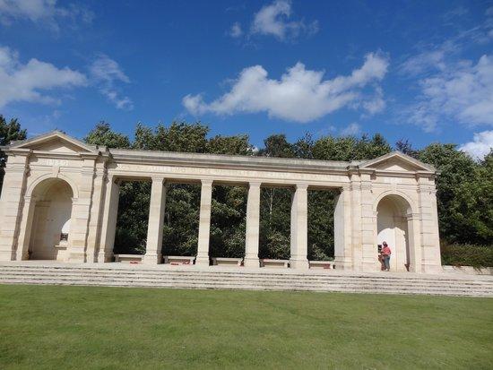 British War Cemetery: War memorial opposite cemetary