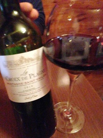 Brasserie Au Bon Plaisir: amazing wine, must try