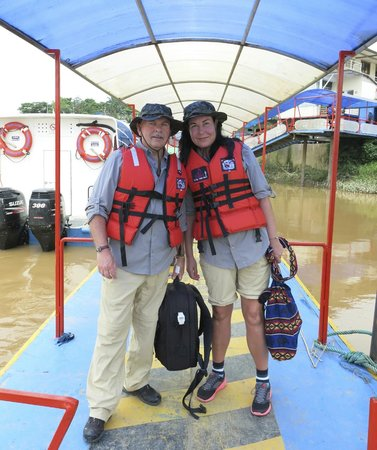 Sani Lodge: On the canoe