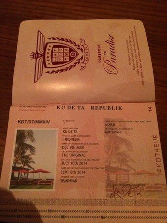 KU DE TA: passport details on staff: novel