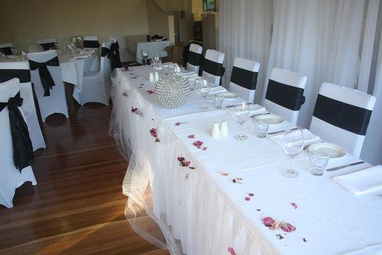 Pasfields Restaurant, Bar & Deck: Pasfields Restaurant Small Wedding Set Up
