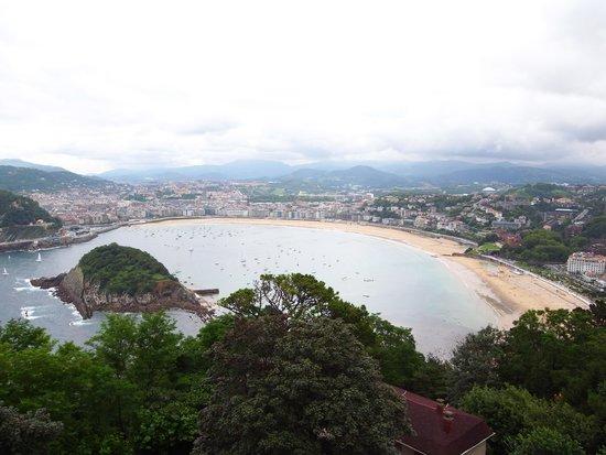 Monte Igueldo: コンチャ湾。