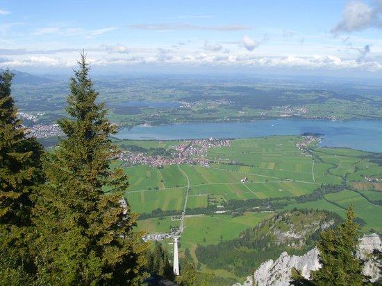 Mount Tegelberg: Zicht vanaf de Tegelberg op Schwangau