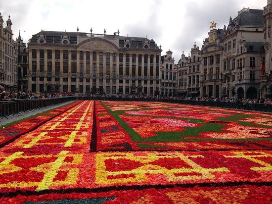 Gran Plaza: flower carpet