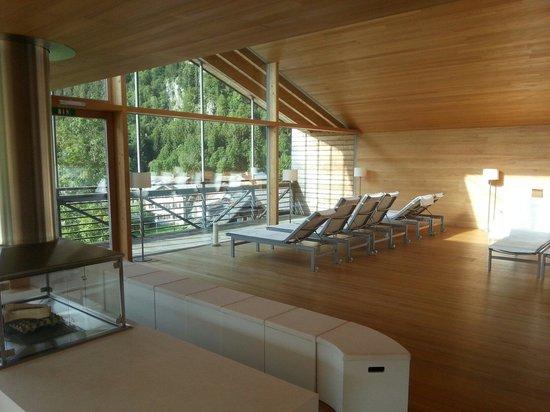 Hotel Krone : Spa avec cheminée