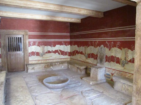 Le Palais de Cnossos : sala del trono
