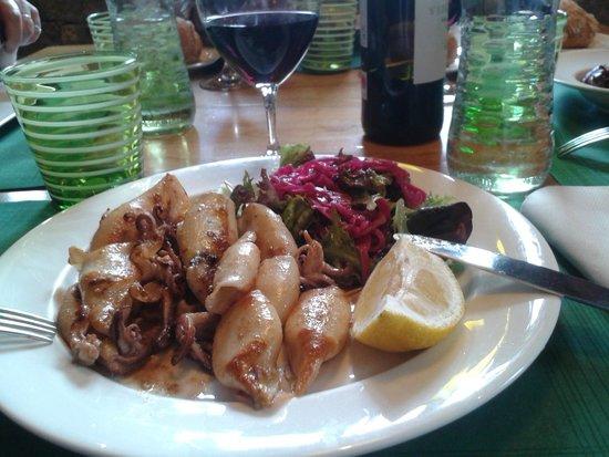 Restaurante El Molín de la Pedrera: Chipirones a la plancha