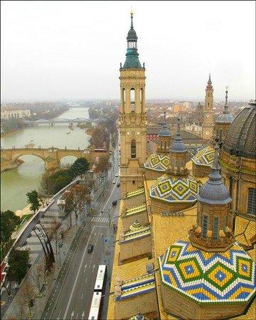 Ascensor del Pilar: Mirador de la Torre del Pilar de Zaragoza