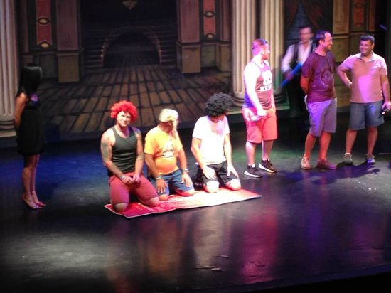 Grand Yazici Club Turban: They got my husband on stage - hes the one in the red wig!