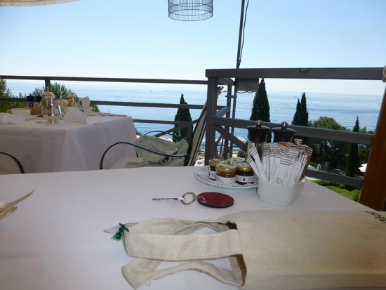 Hotel Il Pellicano : Your breakfast view (watch out for wasps tho)
