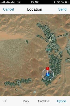 Qasr Al Sarab Desert Resort by Anantara: Location of the Qasr in the middle of the Desert Dunes