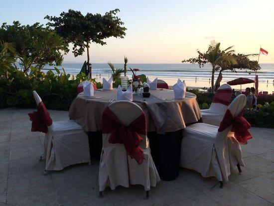 Padma Resort Legian: book a personal bbq down by beach