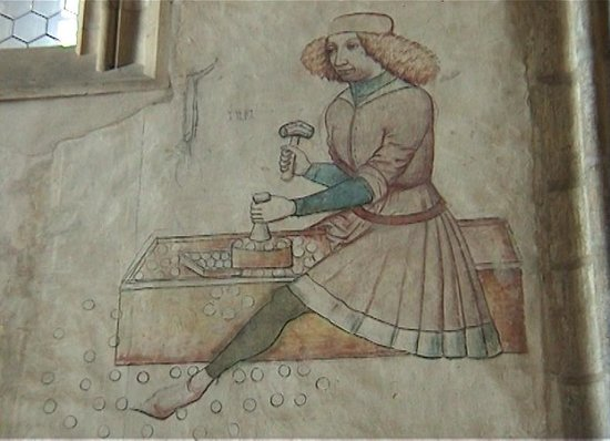 Cathedral of St. Barbara: Fresco of Silver workers