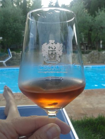 Agriturismo Cesani: Swimming pool and wine