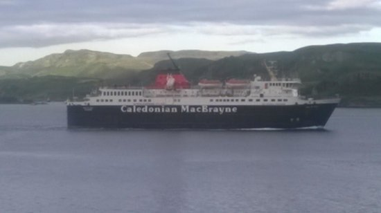 Lancaster: ISLE OF MULL heading for Mull from my room
