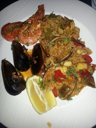 Restaurante La Lonja : Paella poisson et fruits de mer