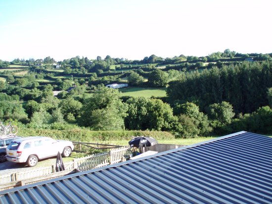 The Tradesman's Arms: view across the valley from my room