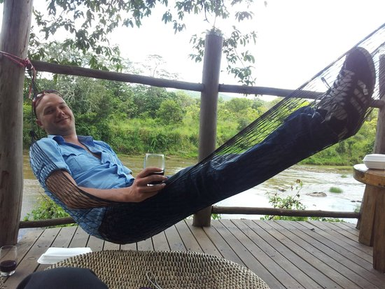 Tongole Wilderness Lodge: Relaxing by the beautiful Bua river