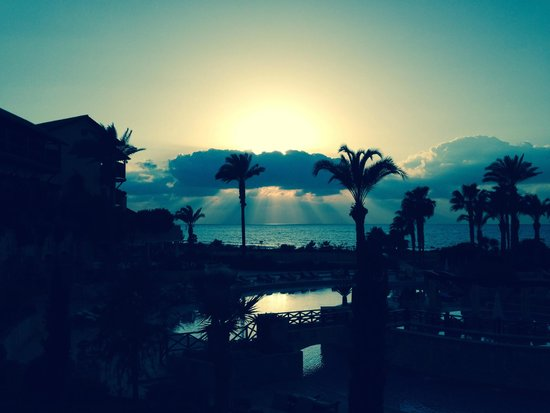 Elysium Hotel : Sunset over the sea (view from the Elysium)