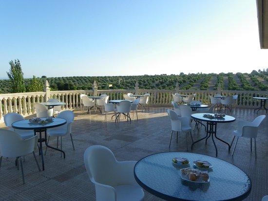 Hotel Ciudad del Renacimiento: Terraza anexa al restaurante