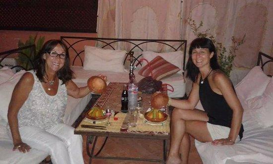 Cena en la terraza del riad picolina, relax total!!!