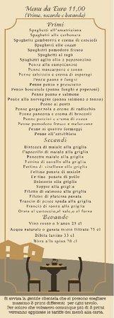Ristorante Pizzeria Baddy's: menu turistico