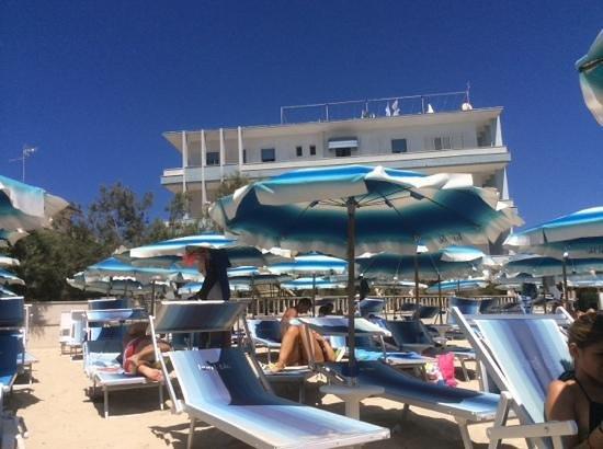 Hotel Blu: vista dalla spiaggia