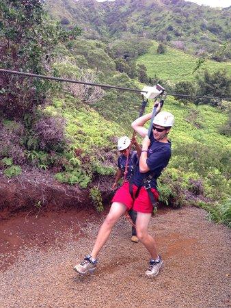 Skyline Eco-Adventures Zipline Tours: Coming in for a landing