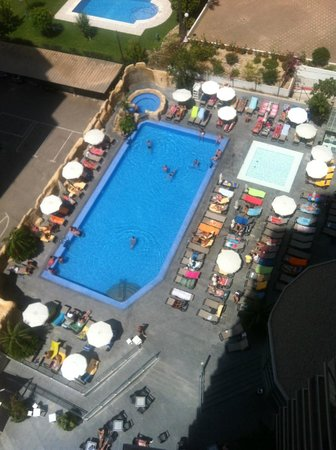 Sandos Monaco Beach Hotel & Spa: Piscina + Jacuzzi + Piscina Relax desde la habitación