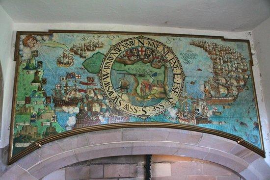Lindisfarne Castle: The wind indicator works
