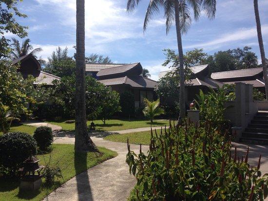 Maehaad Bay Resort: Path to poolVillas