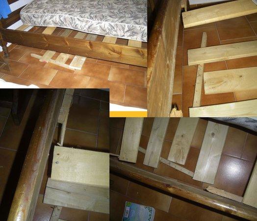 Villa Elpiniki: The broken bed
