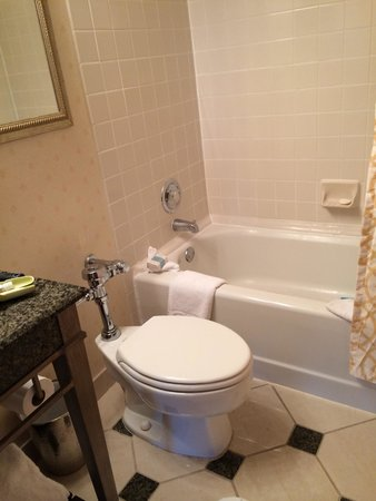 Omni Severin Hotel: Toilet looks like a school bathroom toilet. This place needs an upgrade!