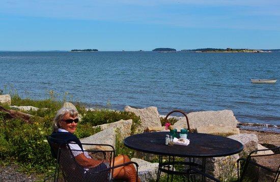 Waterman's Lobster Pound : Take advantage of an ocean side table