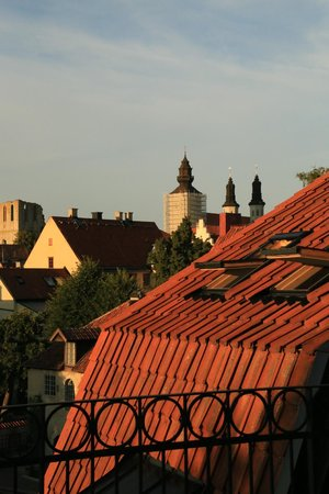 Hotel Strandporten: View from the deck, looking into Visby